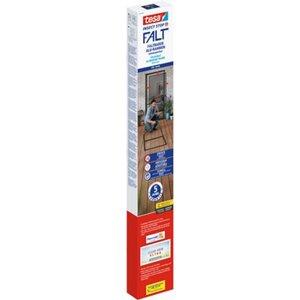 Tesa® Fliegengitter-Tür Falt faltbarer Alu-Rahmen Anthrazit