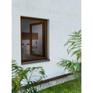 Alurahmen Fenster 80 cm x 100 cm Braun