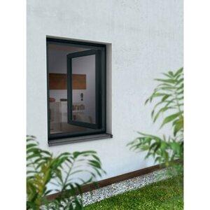Alurahmen Fenster 80 cm x 100 cm Anthrazit