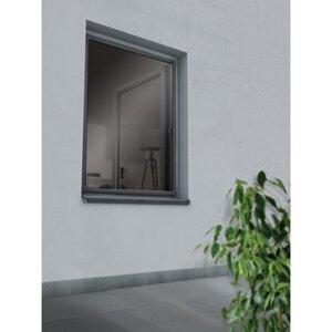 Insektenschutzrahmen Fenster Anthrazit 120 cm x 140 cm