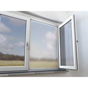Aluminiumnetz Fenster 120 cm x 100 cm Silber