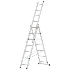 Alpe Mehrzweck-Leiter 3 x 7 Sprossen Arbeitshöhe 4,66 m