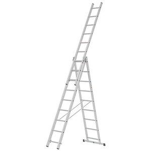 Alpe Mehrzweck-Leiter 3 x 9 Sprossen Arbeitshöhe 6,01 m
