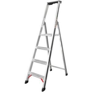 Hymer Stufensteh-Leiter 4 Stufen Arbeitshöhe 2,38 m