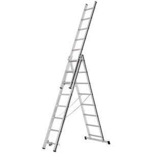 Hymer Mehrzweck-Leiter 3 x 8 Sprossen Arbeitshöhe 5,46 m