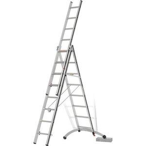 Hymer Mehrzweck-Leiter 3 x 8 Sprossen mit Smart-Base Arbeitshöhe 5,34 m