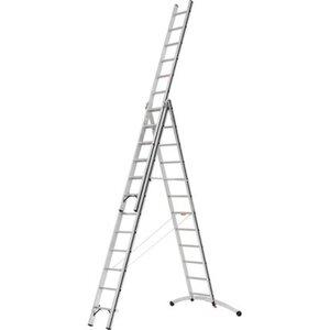 Hymer Mehrzweck-Leiter 3 x 12 Sprossen mit Smart-Base Arbeitshöhe 8,31 m