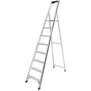 Hymer Stufensteh-Leiter 8 Stufen Arbeitshöhe 3,31 m