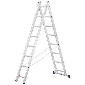 Alpe Mehrzweck-Leiter 2 x 9 Sprossen Arbeitshöhe 4,79 m