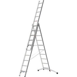 Hymer Mehrzweck-Leiter 3 x 10 Sprossen mit Smart-Base Arbeitshöhe 6,96 m