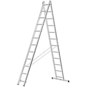 Hymer Mehrzweck-Leiter 2 x 12 Sprossen Arbeitshöhe 6,02 m