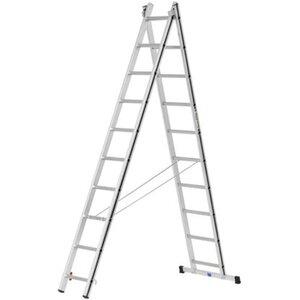 Hymer Mehrzweck-Leiter 2 x 10 Sprossen Arbeitshöhe 4,94 m