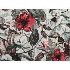 A.S. Création Vliestapete Greenery Blüten Grau-Rot