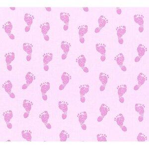A.S. Creation Vliestapete Little Star Fußabdruck Pink