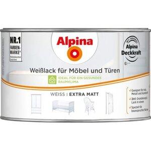 Alpina Weißlack für Möbel & Türen matt 300 ml