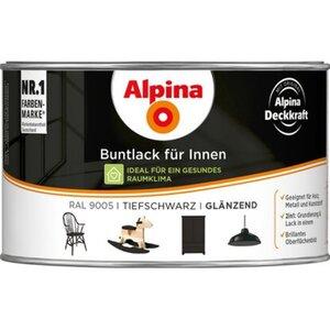 Alpina Buntlack für Innen Tiefschwarz glänzend 300 ml