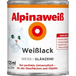 Alpinaweiß Weißlack glänzend 125 ml