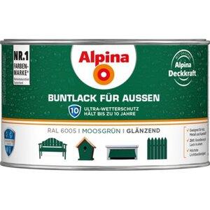 Alpina Buntlack für Aussen Moosgrün glänzend 300 ml