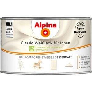 Alpina Classic Weißlack für Innen Creme seidenmatt 300 ml