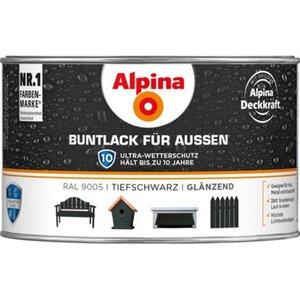 Alpina Buntlack für Aussen Tiefschwarz glänzend 300 ml