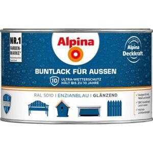 Alpina Buntlack für Aussen Enzianblau glänzend 300 ml