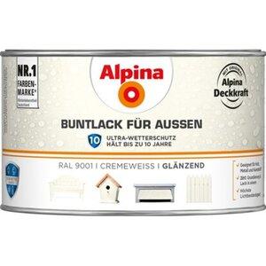 Alpina Buntlack für Aussen Cremeweiß glänzend 300 ml