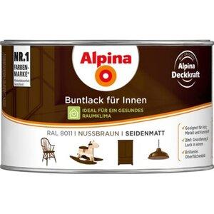 Alpina Buntlack für Innen Nussbraun seidenmatt 300 ml