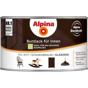 Alpina Buntlack für Innen Schokobraun glänzend 300 ml