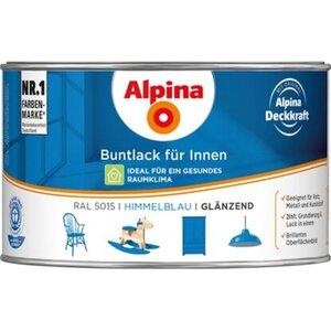 Alpina Buntlack für Innen Himmelblau glänzend 300 ml