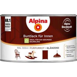 Alpina Buntlack für Innen Purpurrot glänzend 300 ml