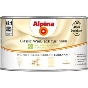 Alpina Classic Weißlack für Innen Hellelfenbein seidenmatt 300 ml