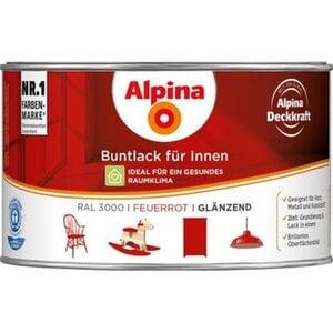 Alpina Buntlack für Innen Feuerrot glänzend 300 ml