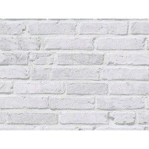 A.S. Creation Vliestapete Ziegelstein Wand Mauer Grau