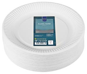 METRO Professional Pappteller Weiß 285 g/m² rund Ø 23 cm - 100 Stück