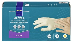 METRO Professional Einmal-Latexhandschuhe ungepudert Gr. XL