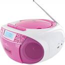 Bild 2 von Schwaiger Tragbarer CD-Player mit Kassettendeck und FM Radio, pink