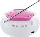 Bild 3 von Schwaiger Tragbarer CD-Player mit Kassettendeck und FM Radio, pink
