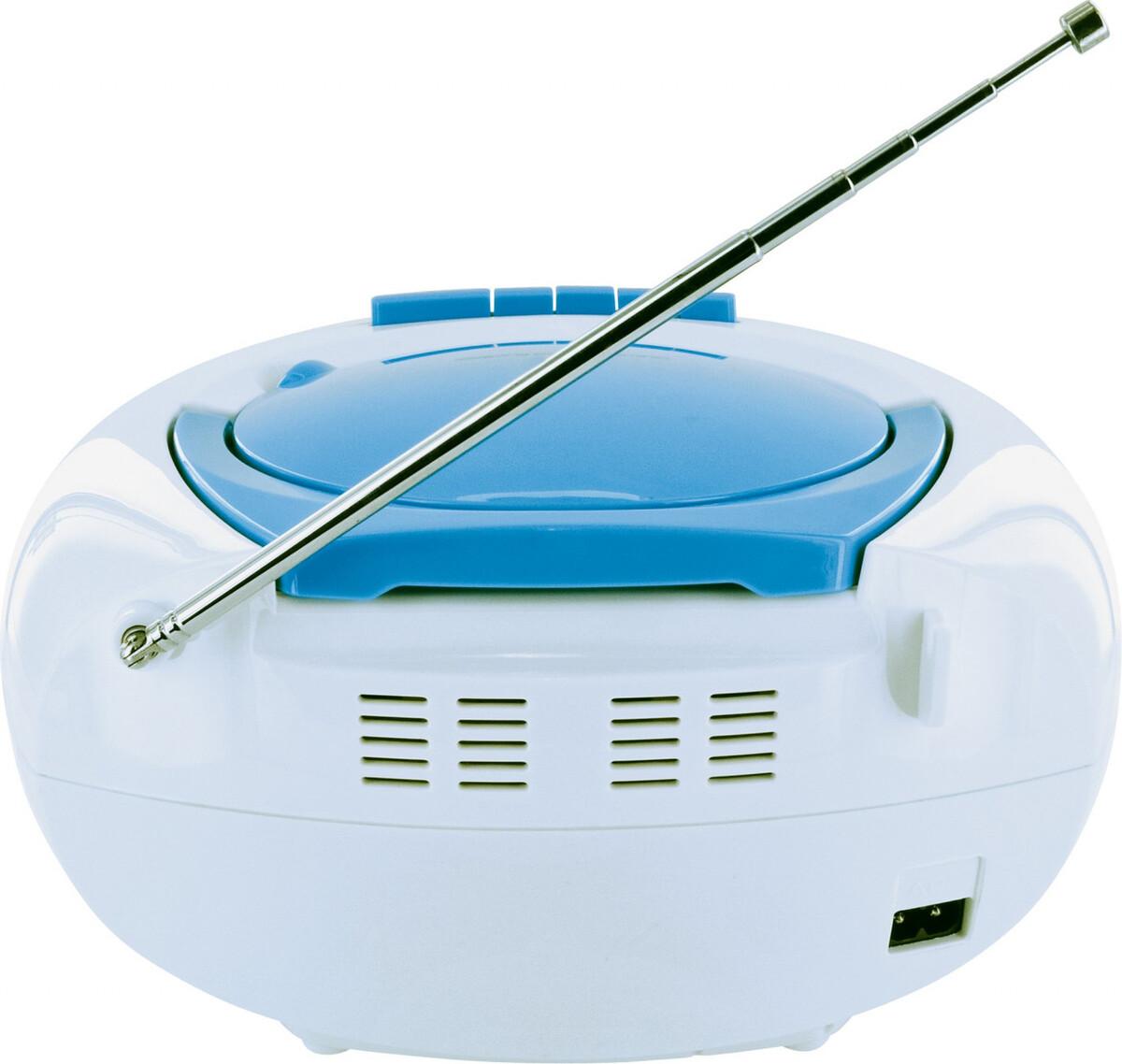 Bild 3 von Schwaiger Tragbarer CD-Player mit Kassettendeck und FM Radio, blau