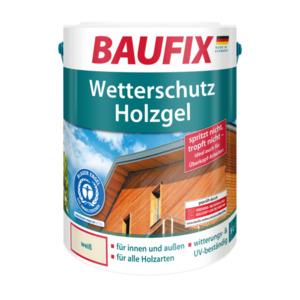 Baufix Wetterschutz-Holzgel weiß