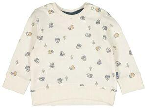 HEMA Newborn-Sweatshirt, Tiere Weiß