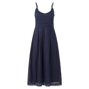 Damen Midi-Kleid mit Häkelspitze