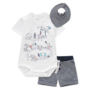Newborn Body, Shorts und Bandana im Set