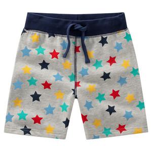 Baby Joggingshorts mit bunten Sternen