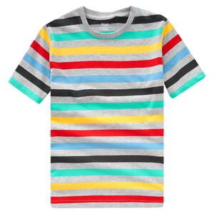 Jungen T-Shirt mit bunten Ringeln