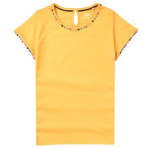 Mädchen T-Shirt mit Pompons
