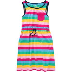 Mädchen Kleid im bunten Ringel-Look