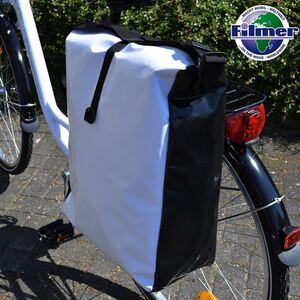 Filmer Tarpaulin-Fahrradtasche mit Schulterriemen 32L Grau