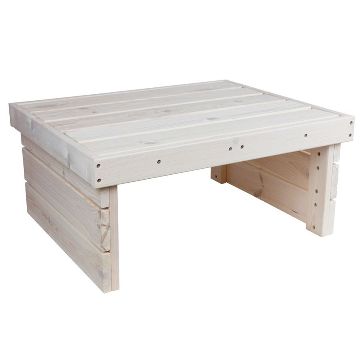 Bild 2 von Holz-Gartentisch 70x32x59cm White-Washed