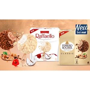 Ferrero Rocher Classic, Dark oder Raffaello Stieleis jede 4 x 70 ml = 280- ml-Packung