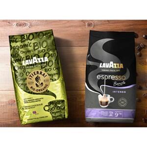 LavAzza Barista Espresso Intenso, Perfetto, Tierra Bio Organic- oder Wellness-Bohnen, jede 1000-g-Vac.- Packung